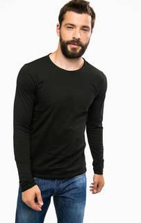 Хлопковая черная футболка Replay