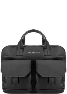 Черная сумка через плечо с короткими ручками Tommy Hilfiger