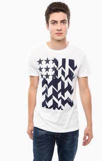 Хлопковая футболка с круглым вырезом Hilfiger Denim