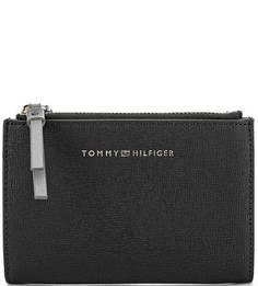 Черное портмоне с карманами Tommy Hilfiger