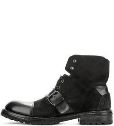 Кожаные ботинки на шнуровке Moma