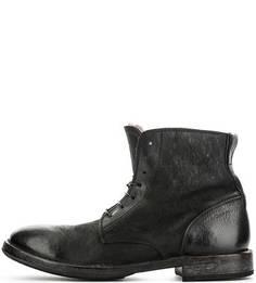Зимние кожаные ботинки на шнуровке Moma