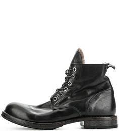 Утепленные ботинки из натуральной кожи Moma