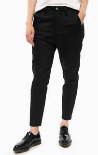 Черные укороченные брюки на молнии G Star RAW