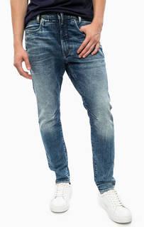 Синие зауженные джинсы G Star RAW