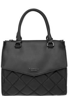 Стеганая черная сумка через плечо Fiorelli