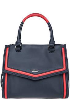 Синяя сумка через плечо Fiorelli