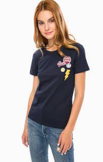 Хлопковая футболка с нашивками Levis®