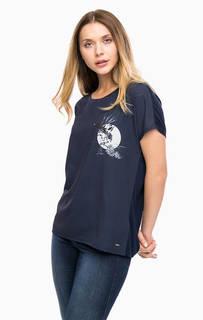 Синяя трикотажная футболка Tom Tailor Denim