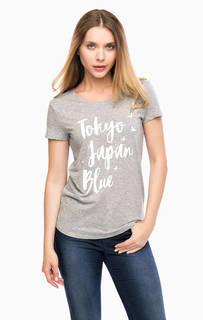 Хлопковая футболка с принтом Tom Tailor Denim