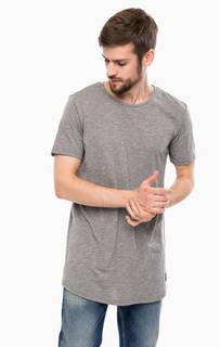 Трикотажная серая футболка Tom Tailor Denim