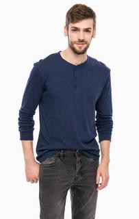 Хлопковая футболка с воротником на пуговицах Tom Tailor Denim