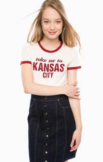 Хлопковая футболка с короткими рукавами и принтом Lee