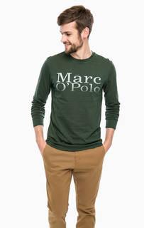 Зеленая футболка с длинными рукавами Marc Opolo