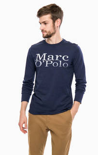 Синяя футболка с длинными рукавами Marc Opolo