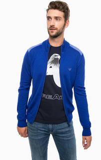 Шерстяной кардиган на молнии Armani Jeans