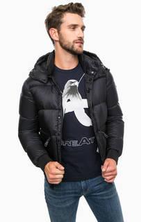 Пуховик на молнии со съемным капюшоном Armani Jeans