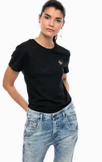 Черная хлопковая футболка Diesel
