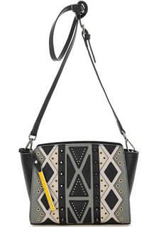 Маленькая кожаная сумка с металлическим декором Cromia