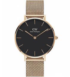 Часы с золотистым металлическим браслетом Daniel Wellington
