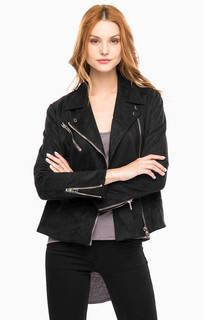 Черная куртка с косой молнией и тремя карманами Religion