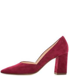 Бордовые замшевые туфли на каблуке Högl