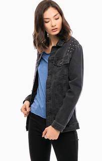 Удлиненная джинсовая куртка с металлической отделкой Mavi