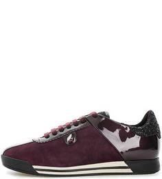 Фиолетовые замшевые кроссовки Geox