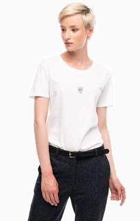 Белая хлопковая футболка с короткими рукавами Marc Opolo