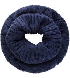 Синий вязаный шарф-хомут Liu Jo