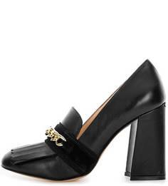 Черные кожаные туфли на высоком каблуке Liu Jo