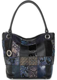 Кожаная сумка с замшевыми вставками Fiato