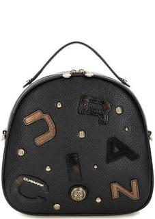 Кожаная сумка-рюкзак с декоративной отделкой Curanni