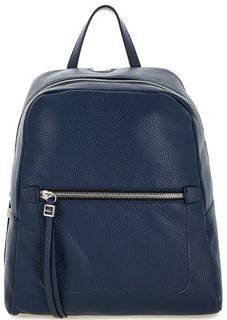 Синий кожаный рюкзак на молнии Gianni Chiarini