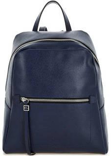 Синий кожаный рюкзак с одним отделом Gianni Chiarini