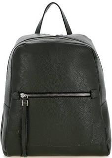 Зеленый кожаный рюкзак на молнии Gianni Chiarini