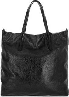 Вместительная кожаная сумка черного цвета Gianni Chiarini