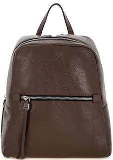 Коричневый кожаный рюкзак на молнии Gianni Chiarini