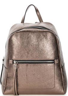 Кожаный рюкзак бронзового цвета на молнии Gianni Chiarini