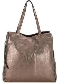 Кожаная сумка бронзового цвета с двумя отделами Gianni Chiarini
