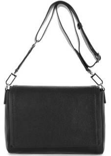 Кожаная сумка с широким плечевым ремнем Gianni Chiarini
