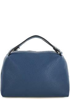 Синяя маленькая сумка из натуральной кожи Gianni Chiarini