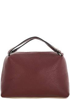Маленькая бордовая сумка из натуральной кожи Gianni Chiarini