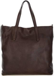 Вместительная кожаная сумка с широким плечевым ремнем Gianni Chiarini