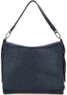 Синяя кожаная сумка с откидным клапаном Gianni Chiarini