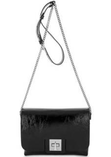 Маленькая кожаная сумка с откидным клапаном Gianni Chiarini