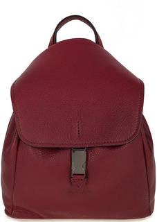 Бордовый кожаный рюкзак с откидным клапаном Gianni Chiarini