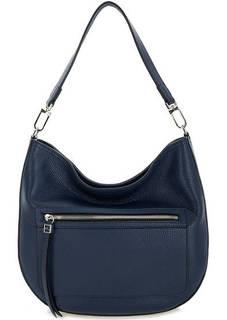 Синяя кожаная сумка на молнии Gianni Chiarini