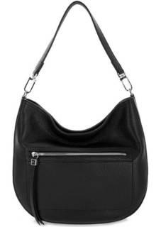 Черная кожаная сумка на молнии Gianni Chiarini