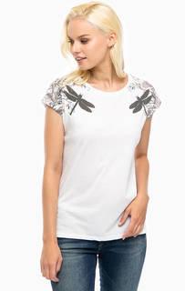 Белая футболка с принтом Mavi